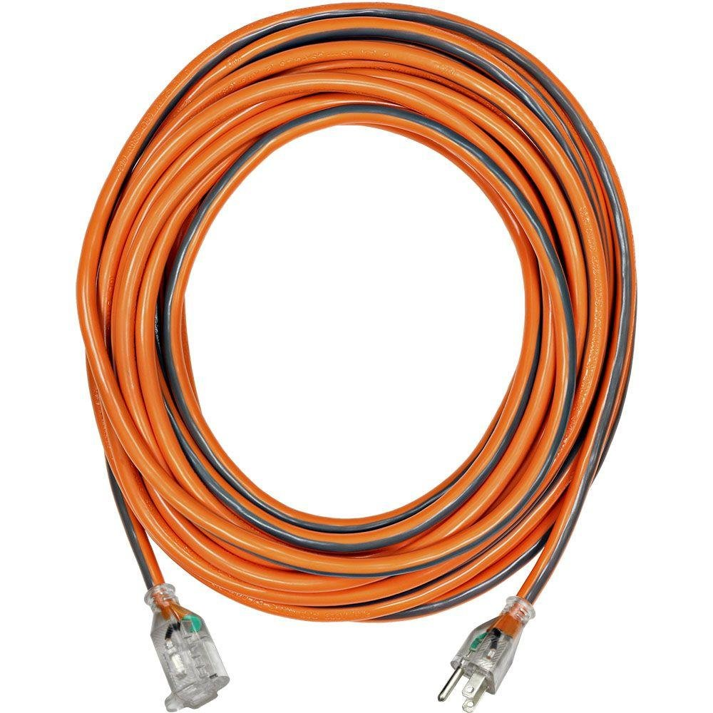 25 ft. 12/3 SJTW Extension Cord with Lighted Plug