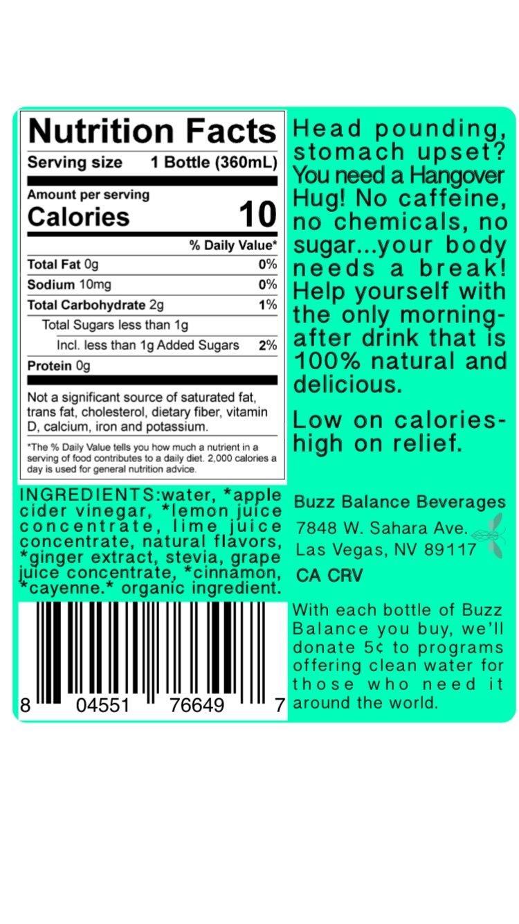 Amazon.com : Hangover Hug (12 pack)-All natural, no sugar, 10 ...
