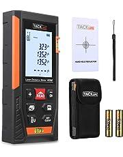 Télémètre Laser 40m, Tacklife Metre Laser, Ecart 1.5mm, Calcule Distance Surface Volume, Fonction Pythagore, Stocker 30 données, 2 Niveaux à Bulle, Fonction Muet, IP54, LCD Rétro-éclairage