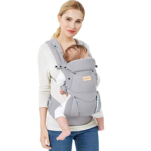 Amazon.com : Fimghsoo Ergonomic Baby Carrier - All Carry Positions, Easy Breastfeeding, Fits for 3-36 Month Baby, Lightweight Breathable Baby Carriers Front and Back, Perfect Baby Shower Gifts (Gray) : Baby