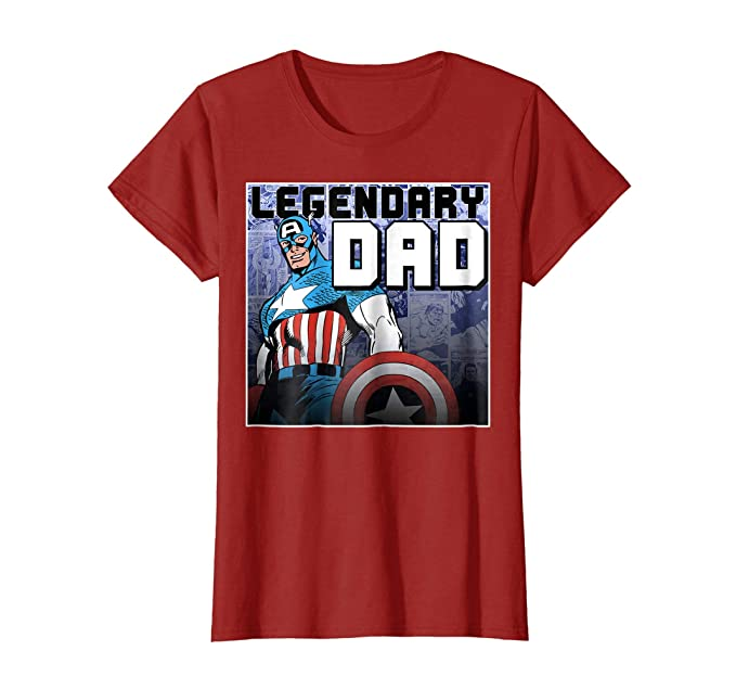 e768f68d Image Unavailable. Image not available for. Colour: Marvel Captain America  Father's Day Legend Graphic T-Shirt