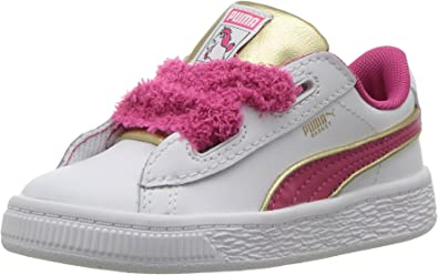 PUMA Kids' Minions Basket Heart Fluffy
