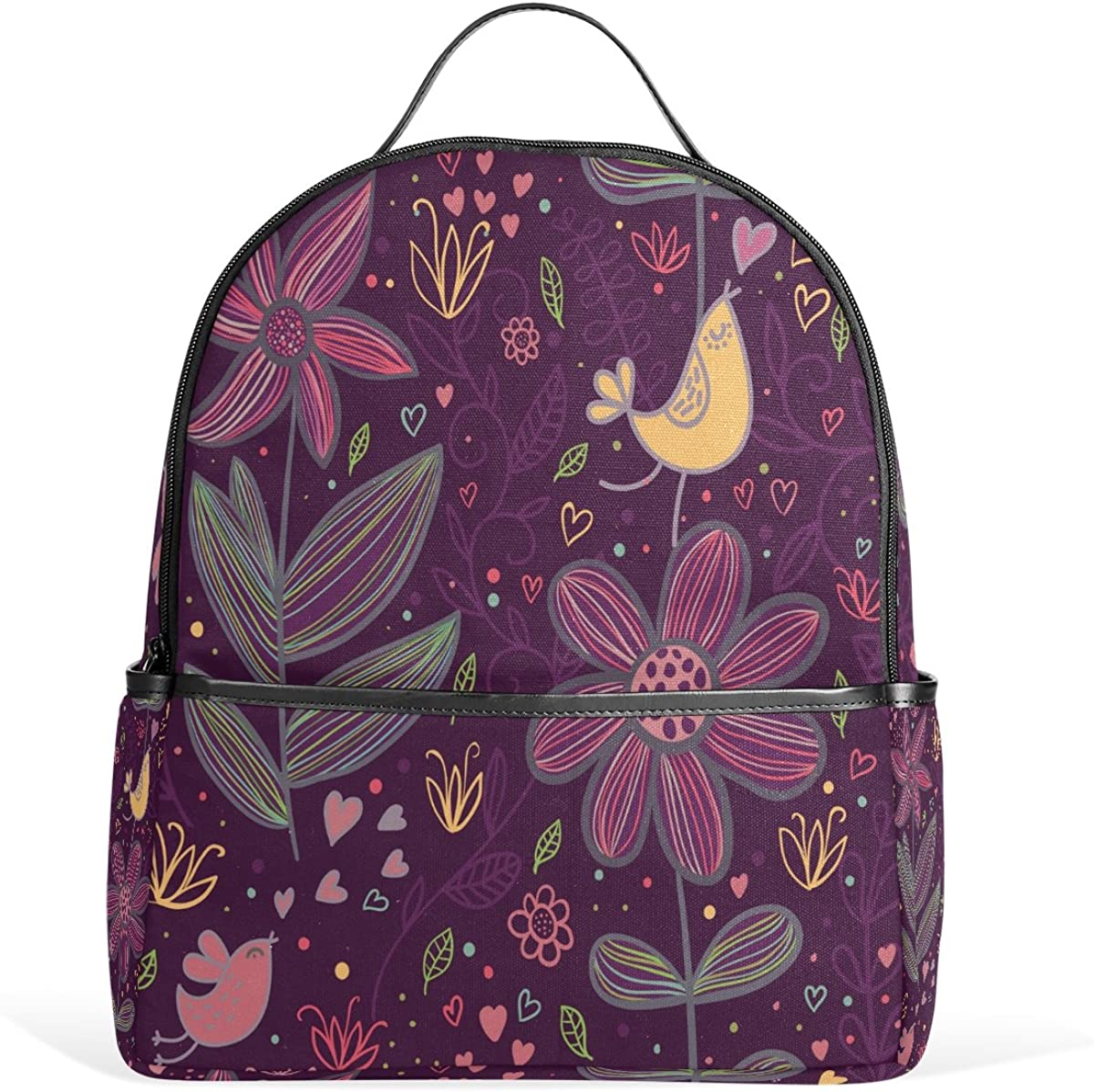 Mr.Weng Lovely Purple Markings Printed Canvas Backpack For Girl and Children