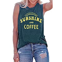 Oriental Pearl Sunshine and Coffee Tank Top Women Funny Cute Sunshine Graphic Tees...