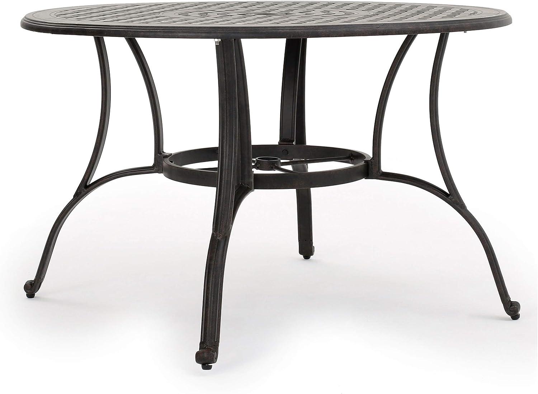 Christopher Knight Home Alfresco Outdoor Cast Aluminum Circular Dining Table, Bronze