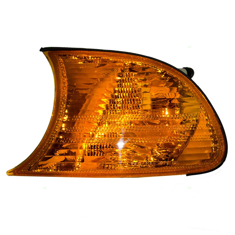Drivers Park Signal Corner Marker Light Lamp Amber Lens Replacement for BMW 63126904299 AUTOANDART