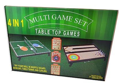 Amazon.com: Mini juego de mesa de juegos de barco, bolos ...