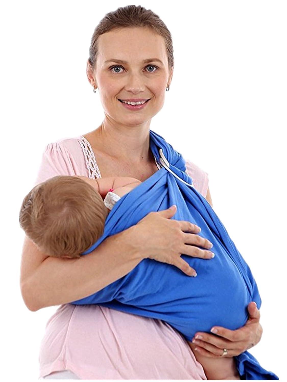 Echarpes bébé portage, Sac à dos Porte Bébéle Porte-bébé Fait de Coton Elastique,bébé sling carrier (Rose) Sac à dos Porte Bébéle Porte-bébé Fait de Coton Elastique Ruiying