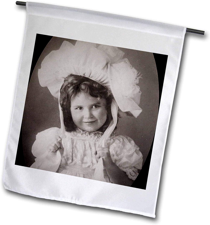 3dRose Victorian Era Little Girl in a Bonnet Circa 1890s - Flags (fl_334928_1)