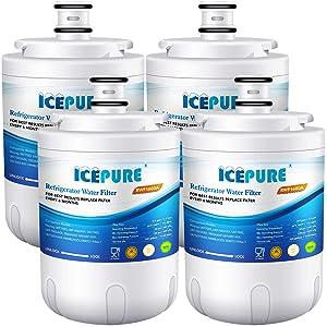 Icepure UKF7003 Replacement Refrigerator Water Filter, Compatible with Maytag UKF7003, UKF7002AXX, UKF7002, UKF7003AXX, 7003AXXP, UKF7001AXX, UKF6001AXX, UKF5001AXX, EDR7D1 [Pack of 4]