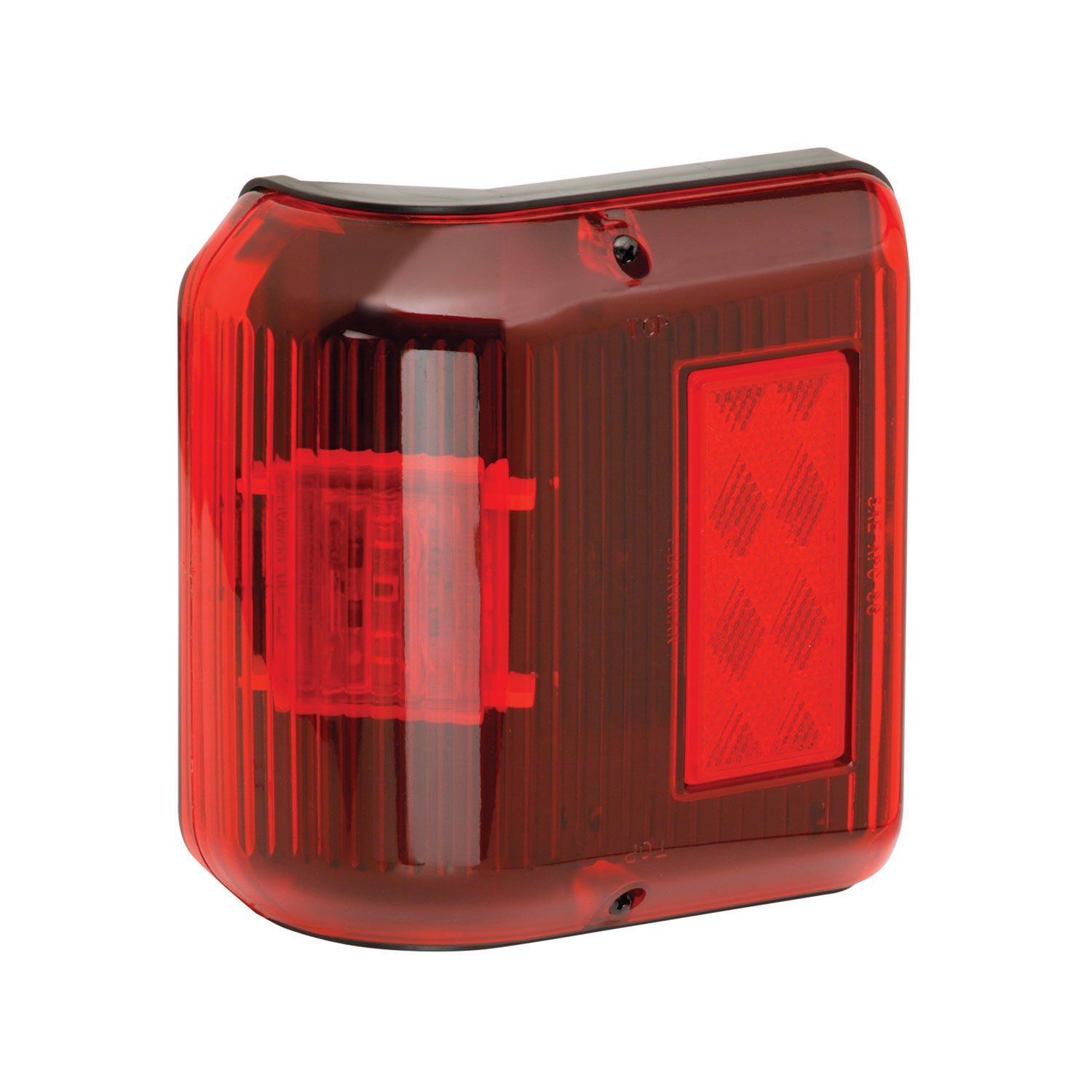 Fulton Bargman 48-86-202 LED Wrap-Around Clearance/Side Marker Light (with Black Base - Red)