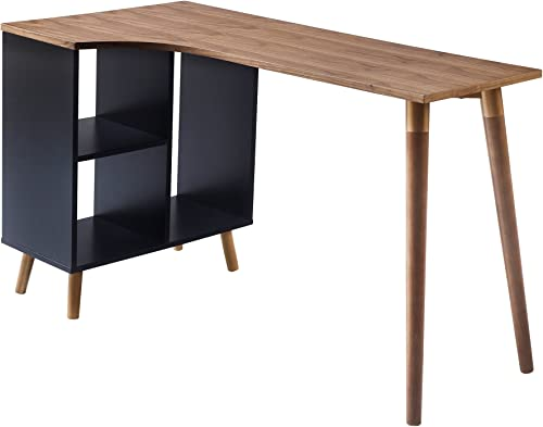 Versanora – Bloccare Office Desk – Walnut Black