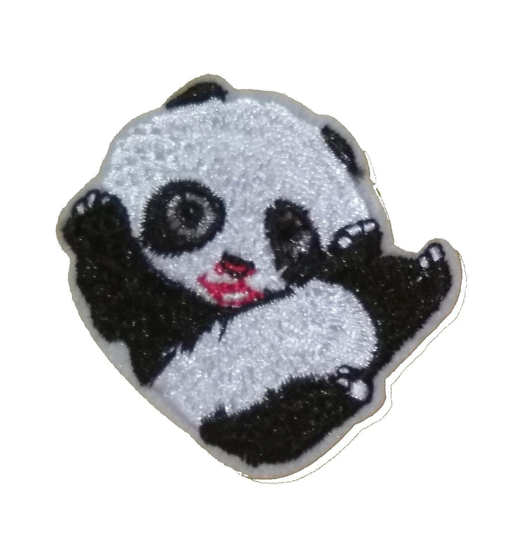 1 x Cute Panda Sew /'n/' Iron On Patch Motif