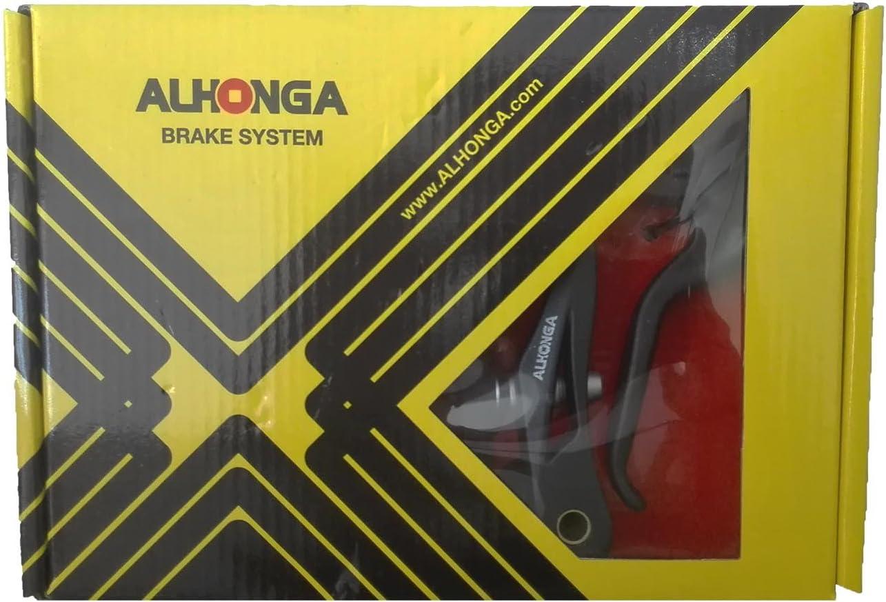 2x Manetas 2x Frenos Cables y Fundas V Brake Alhonga Bicicleta Negro 3030ng