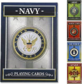 product image for Springbok - United States Navy Playing Cards - Officially Licensed 52 Playing Card Deck - Made in USA