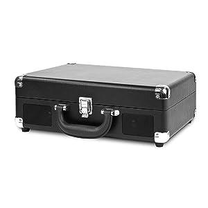 Victrola Nostalgic 3-Speed Vintage Bluetooth Suitcase Turntable, Black