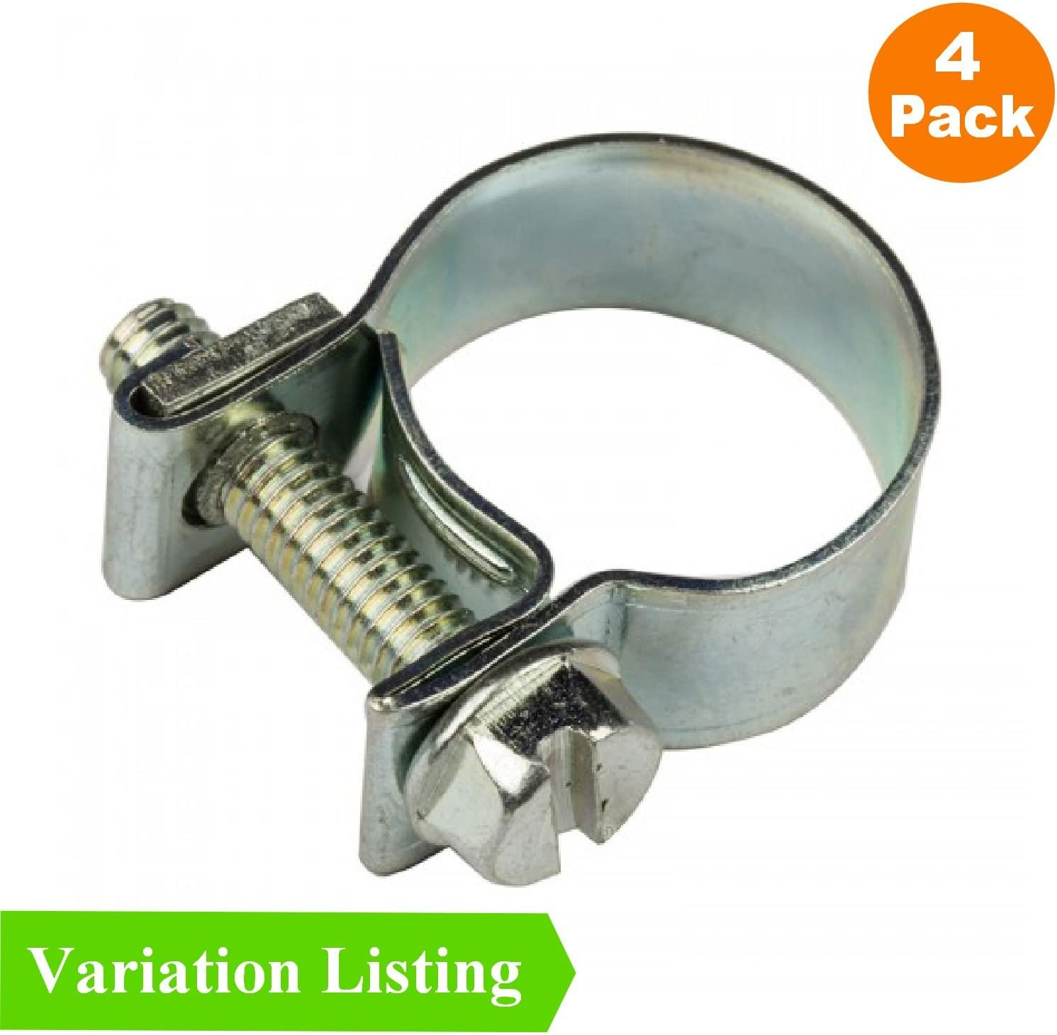 Homesmart Stage-A77-Var 4 x Mini Fuel Line Jubilee Hose Clips Clamps Diesel Petrol Pipe Coolant Radiator 14-16mm
