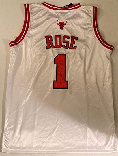Derrick Rose Signed Jersey - Autographed NBA Jerseys at Amazon s ... 2e0757f81