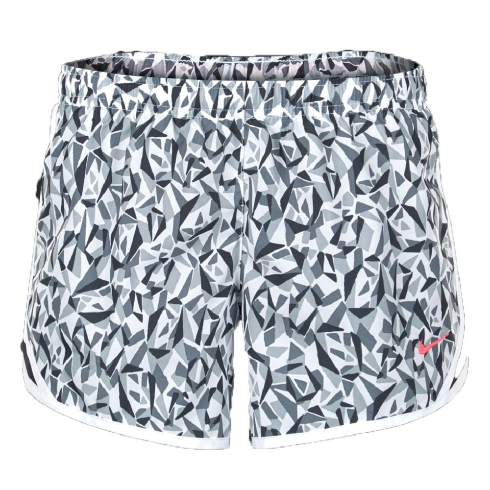 Nike Little Girls Tempo Shorts (6X, White/Cool Grey/Hyper Pink) by Nike