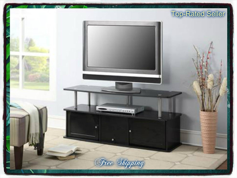 Gave Tv Meubel.Amazon Com Black Tv Stand Media Entertainment Center 42 50 60 Inch