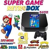 Video Game Retrô 24.000 Jogos + 64gb 2 Controles