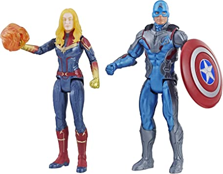 Marvel Avengers Endgame Captain America & Captain 2 Pack Characters from Cinematic Universe Mcu Movies: Amazon.es: Juguetes y juegos