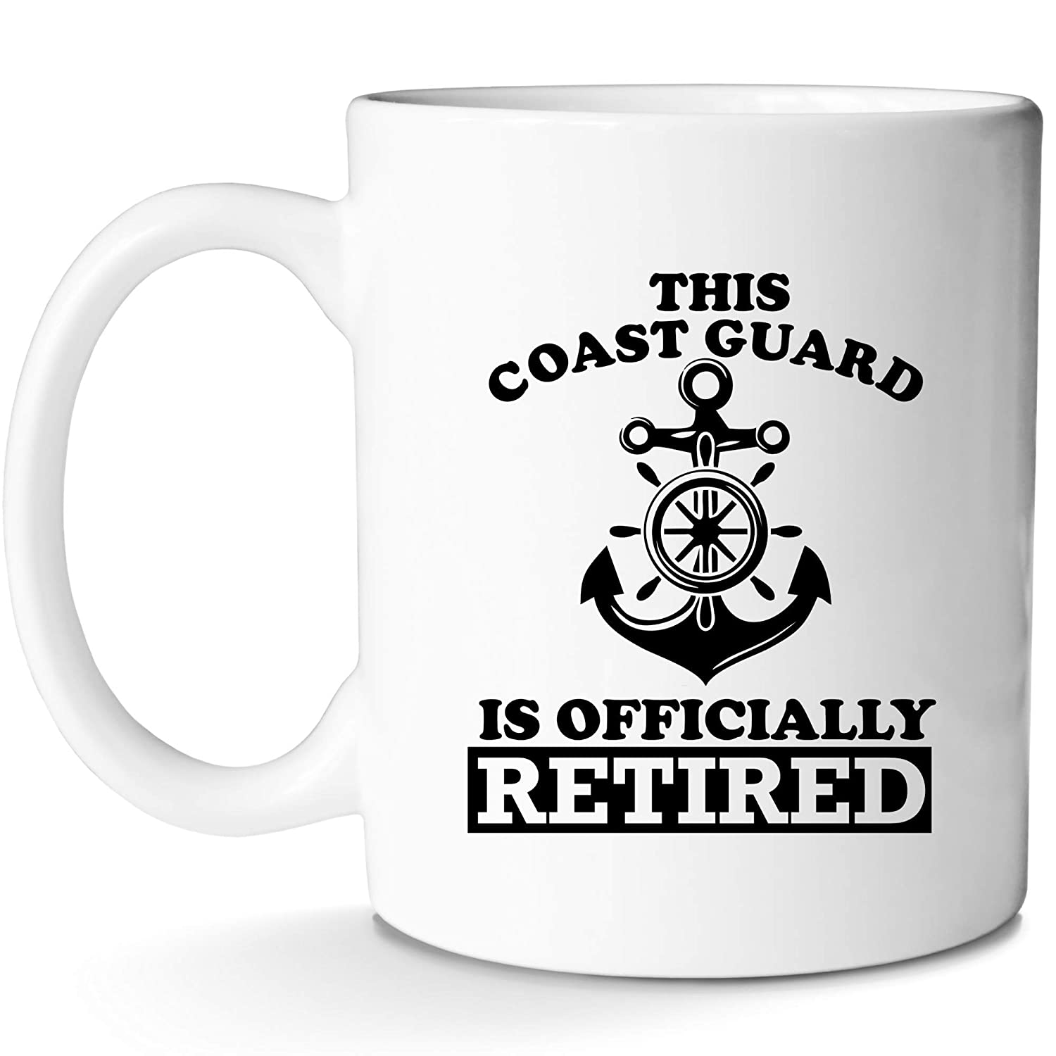Coast Guard Retired Mug for US Legend Funny Novelty Present for Man or Woman Cool Great Coffee Cup Gift Idea With Prime by Mugish 11oz