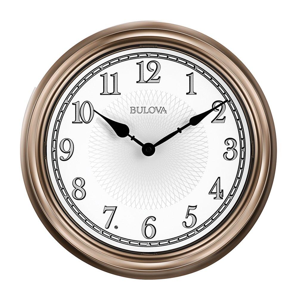 Amazon Bulova C4826 Light Time Wall Clock Champagne Home