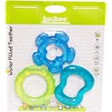 BAYBEE Soft Sensory BPA Free Natural Silicone Molar Teeth Soother for Babies (Blue)