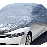 """Motor Trend All Season WeatherWear 1-Poly Layer Snow Proof, Water Resistant Car Cover Size XL1 - Fits up to 210"""""""
