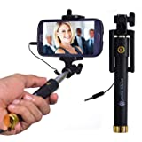 Spykart Selfie Stick with Wire/Aux Cable for taking Photos and Videos for All Smartphones