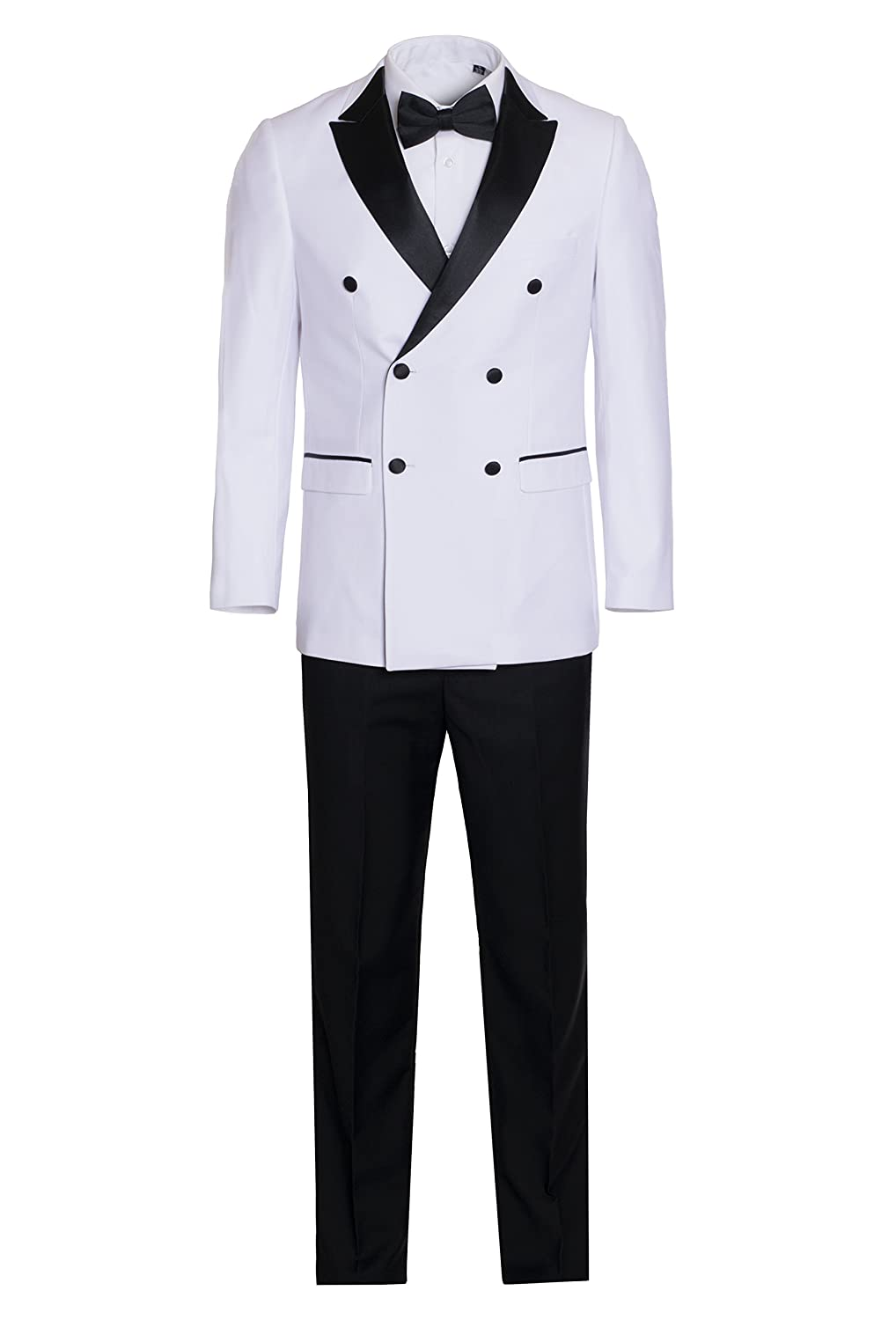King Formal Wear Men's Premium Double Breasted Slim Fit Tuxedo-Many Colors