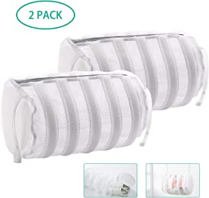 """""""N/A"""" Mesh Laundry Bag for Delicates - Laundry Bags Mesh Wash Bags for Washing Machine with Premium Zipper and Anti-Collision Foam Ring, Lingerie Bags for Laundry, Shoes Laundry Bag, 2 pcs."""
