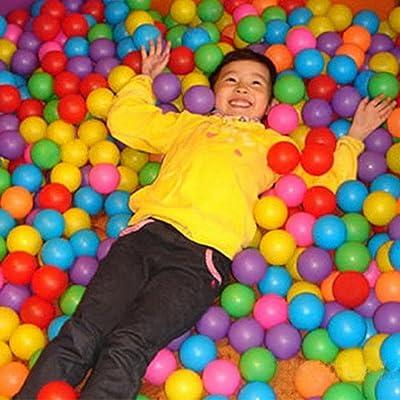 Kekailu Ocean Ball,50pcs Secure Non-Toxic Baby Kid Pit Toy Swim Fun Colorful Soft Plastic Ocean Ball: Home & Kitchen