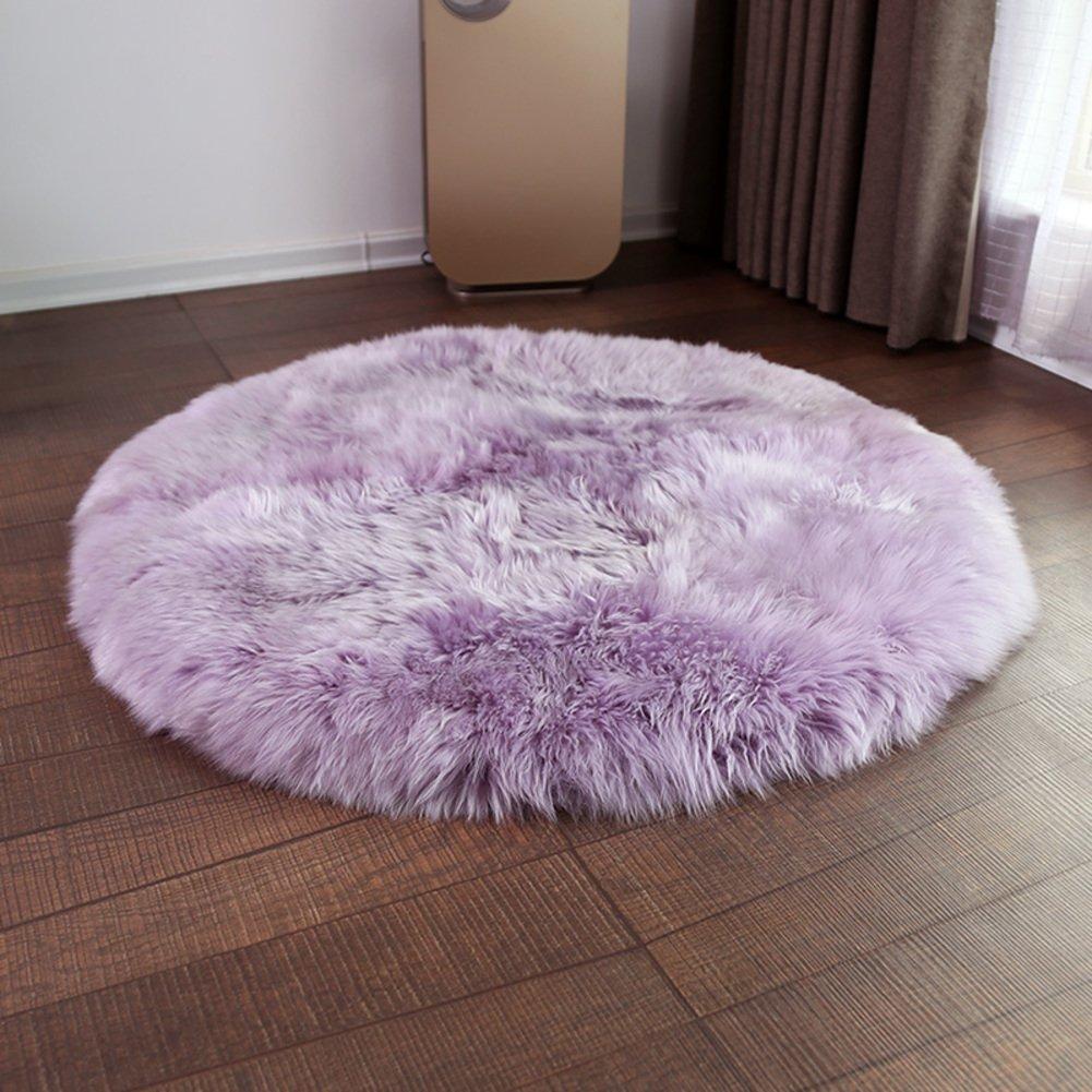 Area rug european,Sofa cushion Bay window mat Whole Handmade Chair mat Non-slip Home Living room Bedroom Floor-D diameter100cm