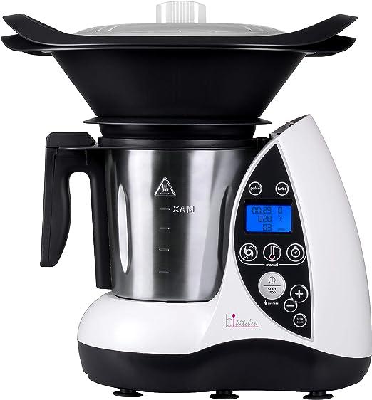 Bkitchen Cook 100 - Robot de cocina térmico (acero inoxidable, 3 L ...