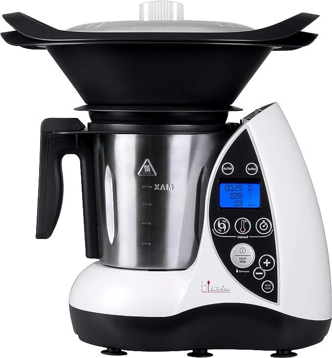 Bkitchen Cook 100 - Robot de cocina térmico (acero inoxidable, 3 L), color blanco: Amazon.es: Hogar