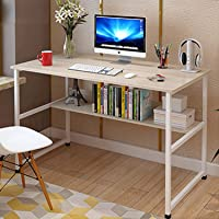 100 * 45 Study Tables Writing Computer Desk Table Sturdy Home Office Desk with Shelves