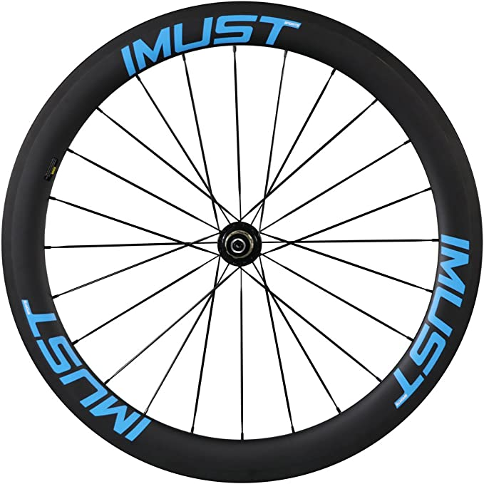 IMUST Rueda Carbono Perfil 50 mm Llantas Tubular para Bicicleta de ...