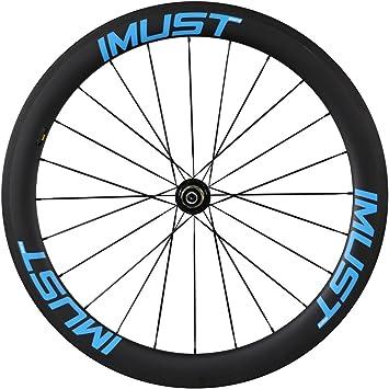 IMUST Rueda Carbono Perfil 50 mm Llantas Tubular para Bicicleta de Carretera Anchura 23 mm: Amazon.es: Deportes y aire libre