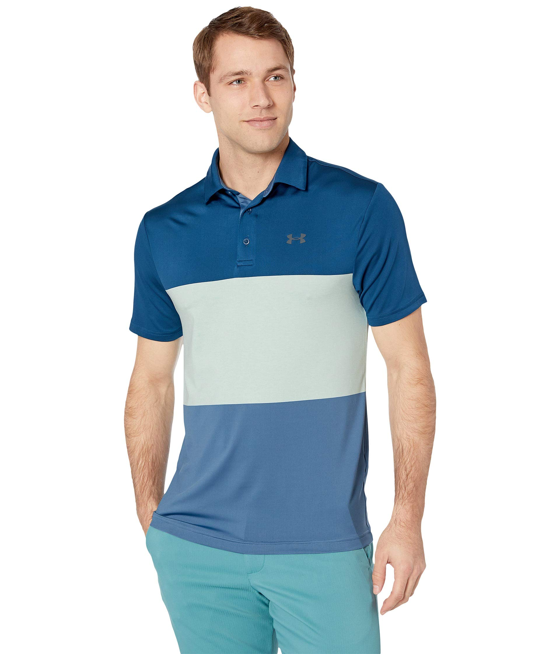 Under Armour Golf Men's Playoff Polo 2.0 Petrol Blue/Aqua Foam/Pitch Gray XXX-Large