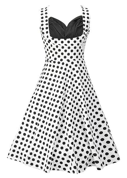 Ruiyige Mujer Vintage 1950s Audrey Hepburn Vestido de Fiesta de Noche de Vestido de Pin-