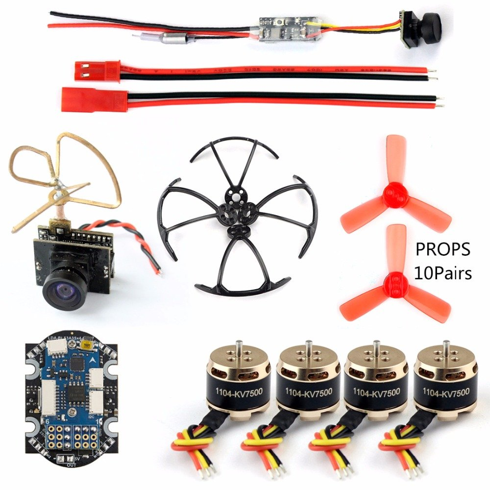 GEHOO DIY 4 Axis Mini Quadcopter Accessory Brushless Motor 4in1 F3 Flight Controller with ESC for RC Racer Drone with 25mw Camera TX