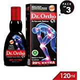 Dr Ortho Pain Relief Oil 120ml (Pack of 3)