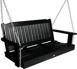 product image for Highwood AD-PORL2-BKE Lehigh Porch Swing, 4 Feet, Black