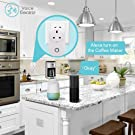 Smart WIFI Plug AOGETYO Wireless Smart Home Socket Compatible with Alexa Echo Google Assistant Remote Control Timer UK Plug Switch Free IOS / Android App