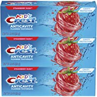 3-Count Crest Kid's Cavity Protection Fluoride Toothpaste (Strawberry Rush)