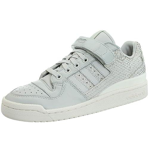 Details zu Adidas Forum Lo Damen low top Sneakers grau weiß Freizeit Turnschuhe Leder NEU