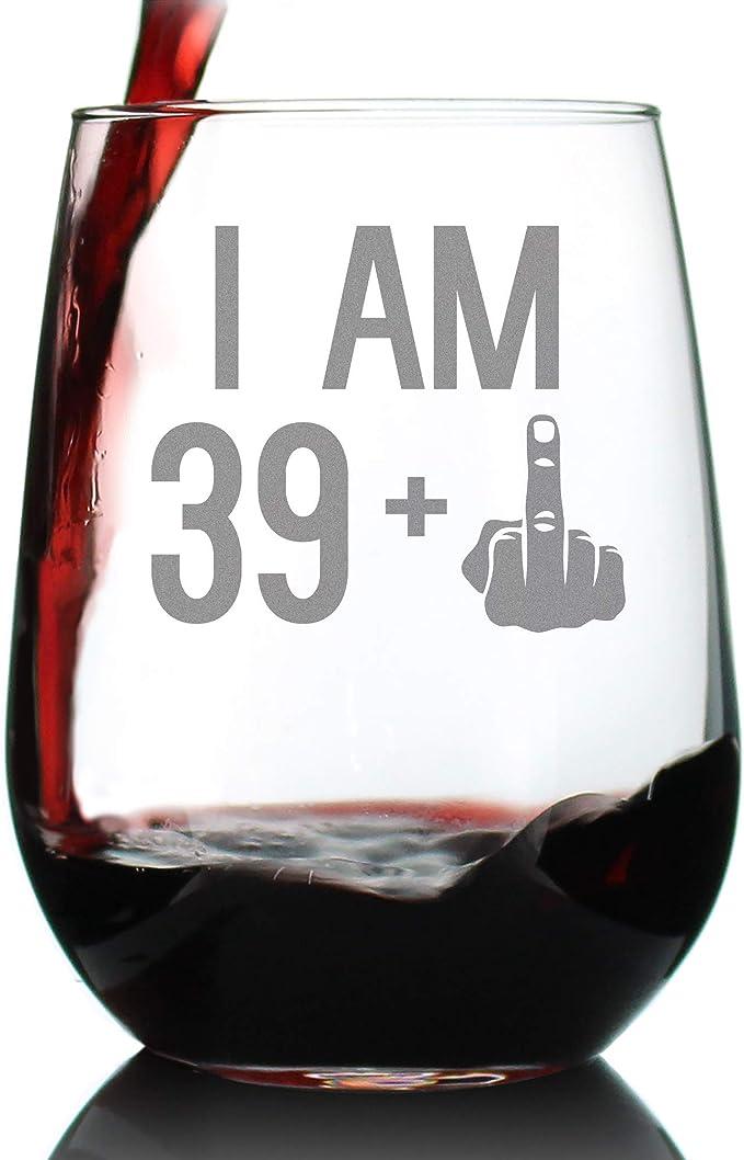 Amazon.com: Copa de vino con diseño de dedo medio para ...
