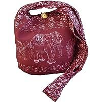 BTP! Ethnic Elephant Sling Crossbody Shoulder Bag Purse Hippie Hobo Thai Cotton Gypsy Bohemian Small